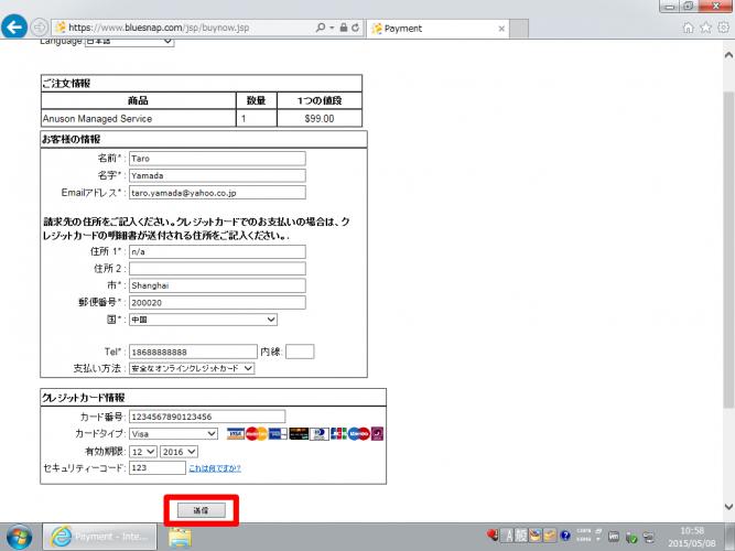 中国で使える12vpnの導入-1-7.支払い情報の入力 その3