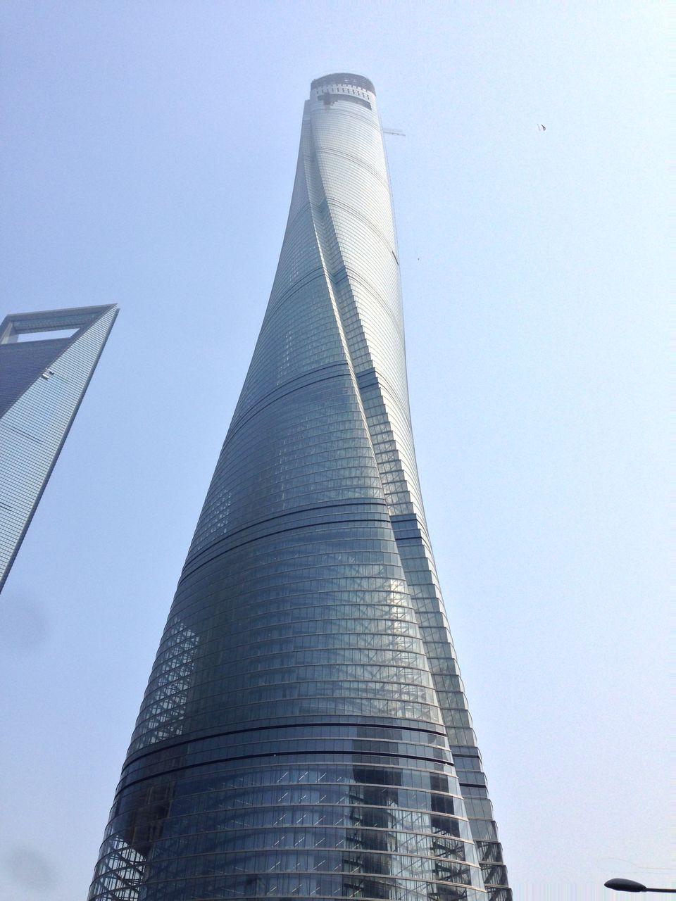 中国で一番高い上海タワー