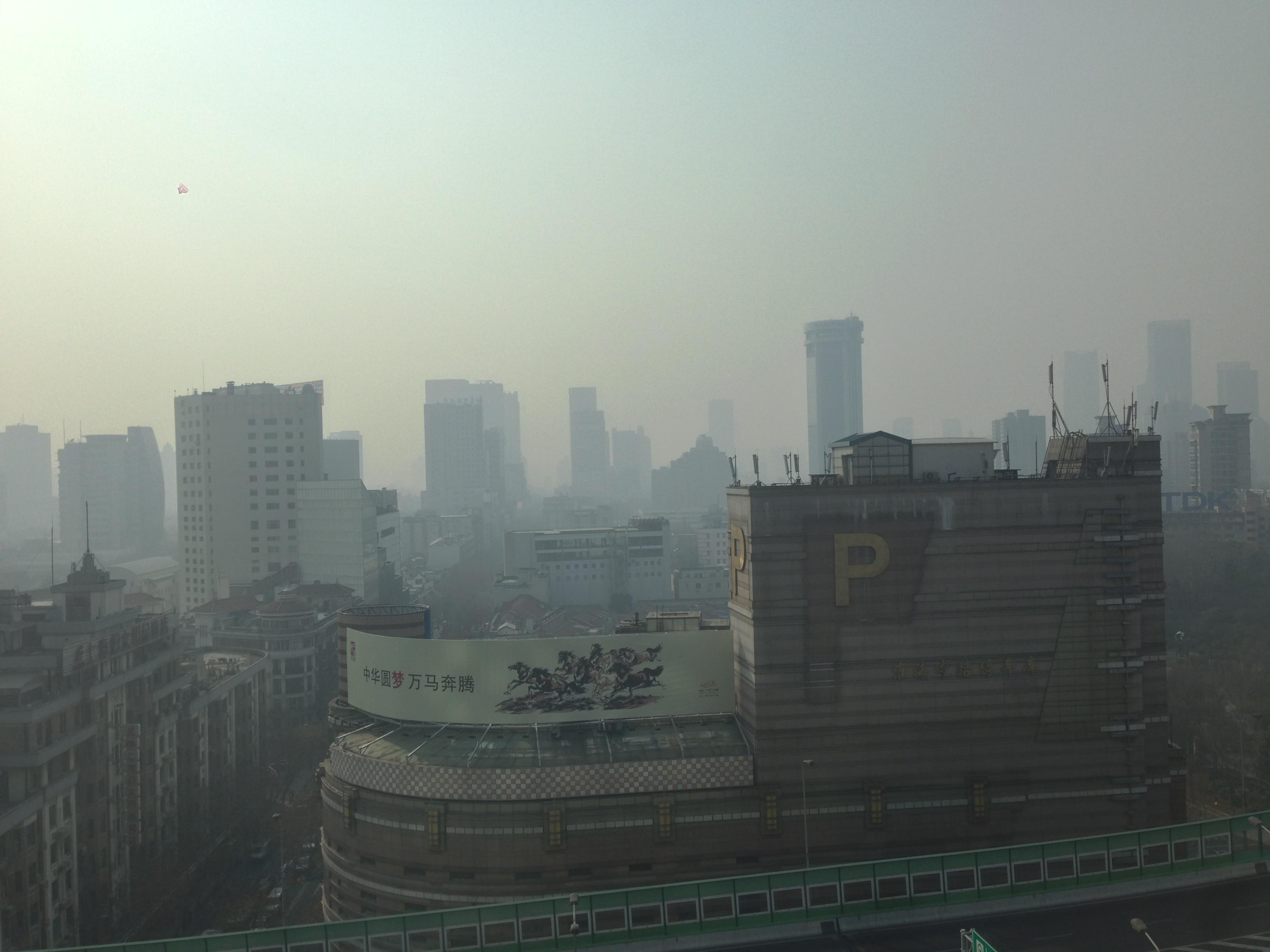 中国上海の大気汚染(重度)