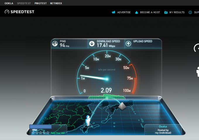 VPNが遅いかな?と思った時にチェックしたい3ポイント-大阪へ接続するとさらに上昇